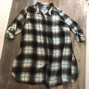 Catherine's | Sheer Plaid Button Down Dress